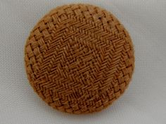 Vintage Woven Fabric Button in a Light Brown color