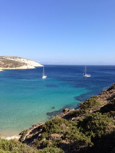 It's not Caribbean or Pacific Ocean.. Aegean Sea ,Greece, Cyclades the unspoilt donousa