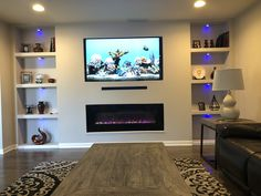 45 Modern Fireplace Ideas, Remodel, and Decor in Living Room Want to remodel your fireplace? Here are some idea that you can use to giving it an modern look. It would bring more coziness to your living room. Wall Units With Fireplace, Built In Wall Units, Built In Electric Fireplace, Living Room Decor Fireplace, Fireplace Mantel Surrounds, Living Room Wall Units, Living Room Built Ins, Fireplace Built Ins, Home Fireplace