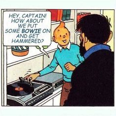 tintin and the captain - just a regular Thursday night