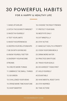 30 powerful habits for a happy, healthy life - Alles über Mundpflege 2020 Vie Motivation, Tuesday Motivation, Morning Motivation, Fitness Motivation, Motivational Quotes, Inspirational Quotes, Self Care Activities, Good Habits, Healthy Habits