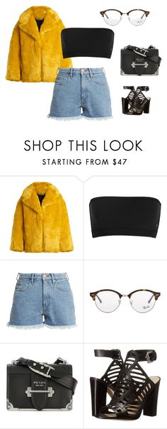 """""""Fab"""" by anne-maren-weisser-fredriksen ❤ liked on Polyvore featuring Diane Von Furstenberg, M.i.h Jeans, Ray-Ban, Prada and GUESS"""