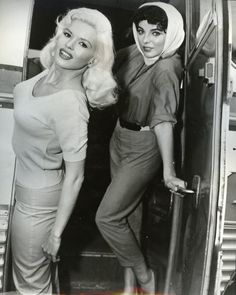Jayne Mansfield and Joan Collins, 1950s
