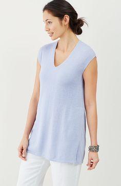 Pure Jill cap-sleeve sweater tunic
