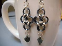 Gunmetal and Silver JAPANESE CROSS Chainmaille by Beads4You2008
