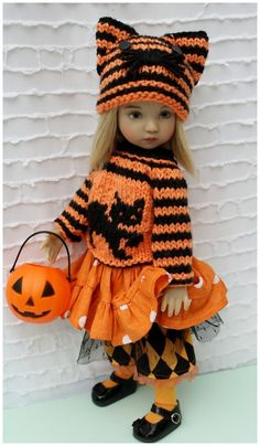 """Halloween Outfit Set For 13"""" Effner Little Darling by Barbara #DiannaEffner"""