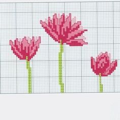 Cross Stitch Flowers, Cross Stitch Patterns, Diy And Crafts, Kitty, Tapestry, Embroidery, Canvas, Creative, Instagram