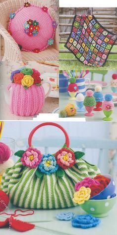 Kazuko Ryokai Crochet Small Goods Craft Book by PinkNelie Book Crafts, Fun Crafts, Straw Bag, Crochet, Creative, Handmade, Bags, Etsy, Vintage