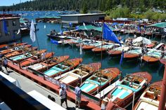 The weather in Carnelian Bay on the shores of Lake Tahoe is perfect for a boat show, and the magnificent Rivas are all dressed up for the occasion…