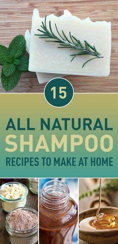 15 All Natural Shampoo Recipes To Make At Home