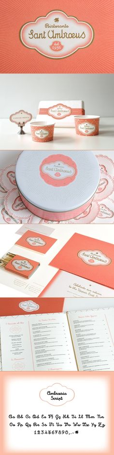 Sant Ambrœus by Mucca via Behance. Font love #identity #packaging PD