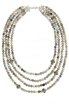 Gem Labradorite Layered Necklace | Calypso St. Barth