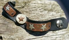 Leather bracelet Stars of the South with by BluegrassNBourbon