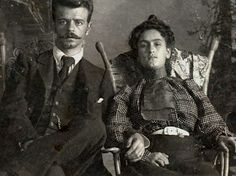 Frida's parents, German born Guillermo Kahlo y Mexican Matilde Calderon.  His original name was Wilhelm Kahl but he changed it to a more spanish sounding name.