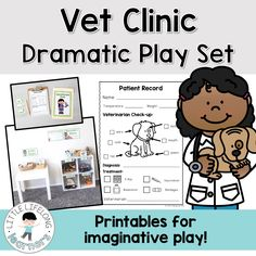 Do your little learners love dramatic play? They will love setting up a Vet Clinic in their play-based learning space with these fun printables!