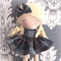 Emma's Scottish dancer is adorable!   #dollsanddaydreams sewing patterns - Dolls And Daydreams