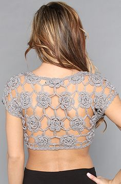 Open bolero crochet jacket-I love this!