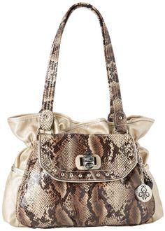 KATHY Van Zeeland Uptown Girl Shoulder Bag,Almond,One Size