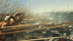 La falange macedonia en la batalla de Gaugamela.