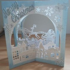 Get into the Christmas Spirit with this amazing project from Dawn Macfie using the Gemini Build a Scene Dies.Find a perfect represent for your own personal family and friends this Christmas with these well priced collection of presents. Boxed Christmas Cards, Christmas Card Crafts, Xmas Cards, Handmade Christmas, Christmas Ideas, Crafters Companion Christmas Cards, Gift Card Presentation, Deco Table Noel, Buy Gift Cards