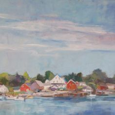 Approaching North Haven by Jillian Herrigel, Dimensions: 24 x 20 in, Price: $400.00