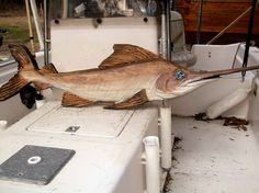 Swordfish 50 chainsaw wood carved nautical by oceanarts10 on Etsy, $149.00