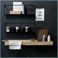 Hanging Shelves, Wall Shelves, Floating Shelves, Shelving, Small Furniture, Solid Wood Furniture, Mobile Home Bathrooms, Ikea Pictures, Dining Room Walls