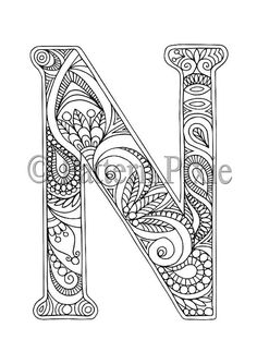 Welcome to my range of Alphabet Letters colouring pages! These are hand drawn for adults and aspiring young artists. Grab your coloured pencils and markers and create your own work of art. Colour in the initials of your children, family and friends names and frame them as a gift! This