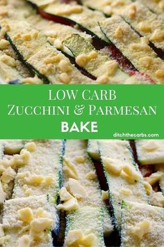 Stuck for ideas for vegetable sides on a low carb diet? Zucchini and parmesan bake with an almond crust is just simply perfect. Such an easy recipe but bowl over your friends by how delicious it is.   ditchthecarbs.com