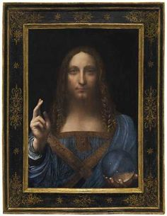 "Leonardo da Vinci's masterpiece ""Salvator Mundi"" (Savior of the World) has sold at Christie's in New York for $450,312,500 – a world auction record for any work of art.  #Blouin_Artinfo #Blouin #Artinfo"
