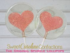Coral Sparkle Heart Lollipops, Heart Lollipops, Coral Favors, Coral Wedding Favor, Lollipops, Sweet Caroline Confections-Set of Six by SweetCarolineConfect on Etsy https://www.etsy.com/listing/239489359/coral-sparkle-heart-lollipops-heart