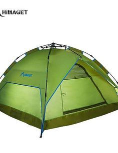 0.5 HIMAGET HIMAGET Brand High Quality Automatic Instant Aluminum Frame Automatic Tent For 3-4 Person Hiking Camping , light blue * Quickly view this special outdoor item, click the image : Hiking tents