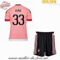 boutique football Maillot de foot Juventus Enfant EVRA 33 Exterieur 2015 2016 saison