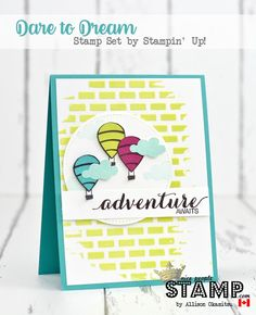 nice people STAMP!: Dare to Dream & Embossing Paste Card: GDP093