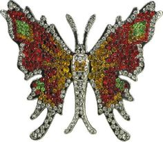 Love This Life Butterfly Rhinestone Belt Buckle