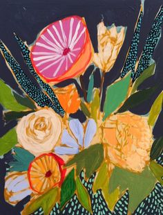 """""""Flowers for Barclay"""" by Lulie Wallace - Lulie is a Southern artist with a gift for painting gorgeous flower arrangements."""