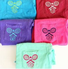 If you play tennis, you have to create your own tennis monogrammed pocket tee!
