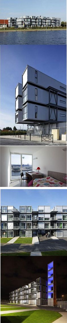 French student dorm rooms…made from shipping containers