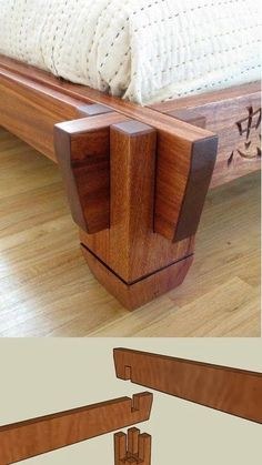look how that interlocks for a beautiful joint. More Woodworking Projects on Japanese bed joinery….look how that interlocks for a beautiful joint. More Woodworking Projects on