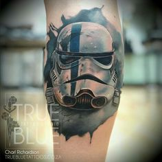 Blue Tattoo, Star Wars Tattoo, Ink Art, Body Art, Skull, Starwars, Tattoos, Beautiful Body, Fun
