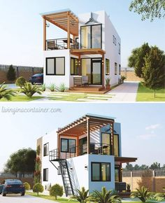 Shipping Container Design, Shipping Container House Plans, Container House Design, Sea Container Homes, Building A Container Home, Small House Interior Design, Tiny House Design, Container Architecture, Architecture Design
