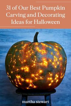 These are our favorite pumpkin carving ideas and creative but simple jack-o-lantern ideas. Try one of these Halloween pumpkin carving ideas to help add some Halloween decor to your home or front porch this year. #marthastewart #pumpkins #diypumpkins #falldecor #halloween Halloween Home Decor, Halloween House, Spooky Halloween, Holidays Halloween, Halloween Crafts, Happy Halloween, Halloween Decorations, Painted Halloween Pumpkins, Halloween Queen