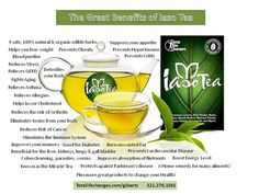 The great benefits of Iaso Tea! Order at, totallifechanges.com/gilbertc or email for more info at sonjess21@gmail.com