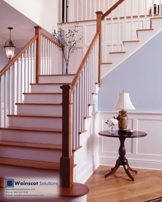 The staircase is sometimes the most memorable part of a home. Have your staircase standout with Wainscoting. Visit our website at:  http://www.wainscotsolutions.com/