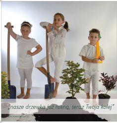 Dzieci promują ekologię - sadzenie drzewek:)