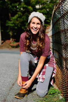 walk in love. | Hope Anchors The Soul | Hipster Outfit | Fall Outfit | Flannel | Beanie | Statement Necklace | L.L Bean Boots