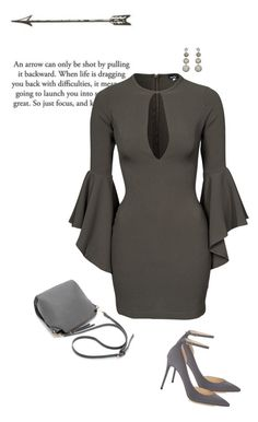 """""""I LOVE this dress!!!!"""" by sherry7411 ❤ liked on Polyvore featuring John Zack, Carole Shashona, Jimmy Choo, women's clothing, women, female, woman, misses, juniors and bellsleevedress"""