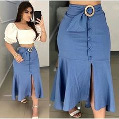 Plus size outfits Skirt Outfits, Chic Outfits, Fashion Outfits, Womens Fashion, Dress Fashion, African Fashion Dresses, African Dress, The Dress, Dress Skirt