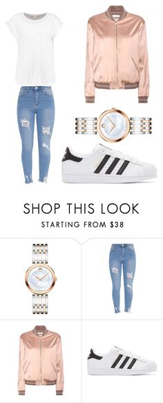 """Untitled #87"" by mylap ❤ liked on Polyvore featuring Movado, Yves Saint Laurent and adidas Originals"