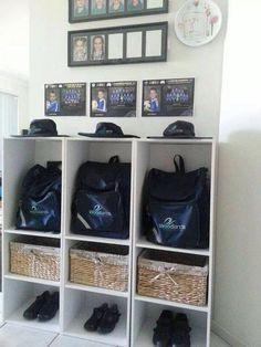 school bag storage organised 3